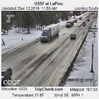 Highway 97 at LaPine Webcam - La Pine, OR