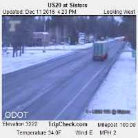 Highway 20 at Sisters Webcam - Sisters, OR