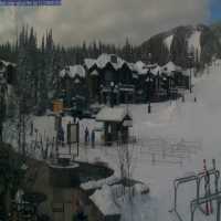 Ski Resort Base Lodge Webcam - Whitefish, MT
